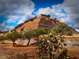 Queretaro pyramid. Copyright 2015 Miguel Omaña.