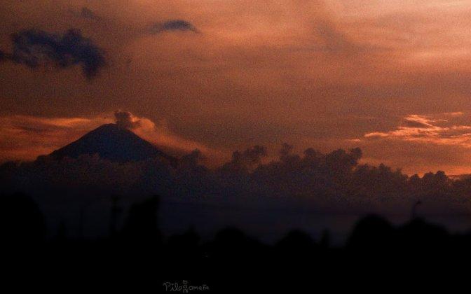 Popocatepetl volcano, Mexico.