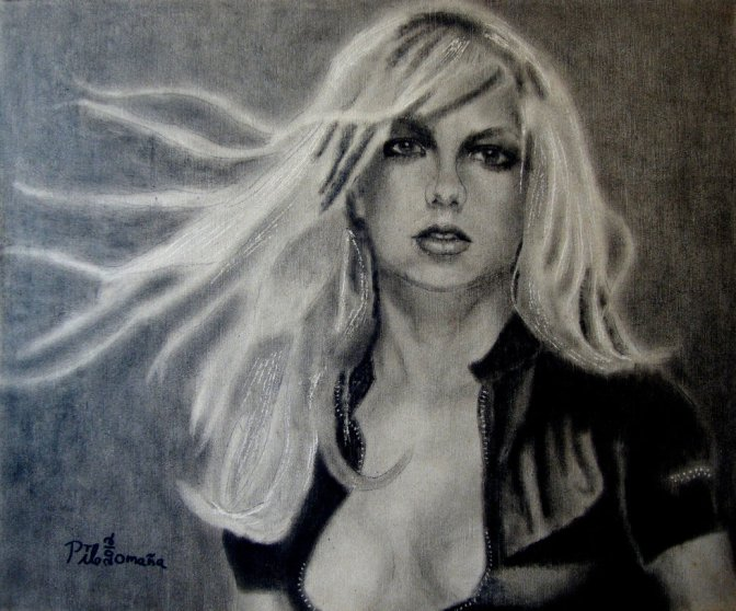 Britney Spears painted portrait