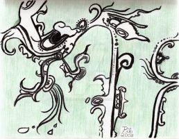 Maya vision serpent. Copyright 2008 Miguel Omaña.