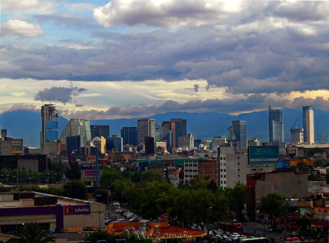 Mexico City's cityscape, present and past.