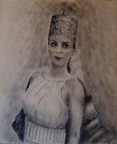 Sumerian Queen Kubaba. Copyright 2015 Miguel Omaña.