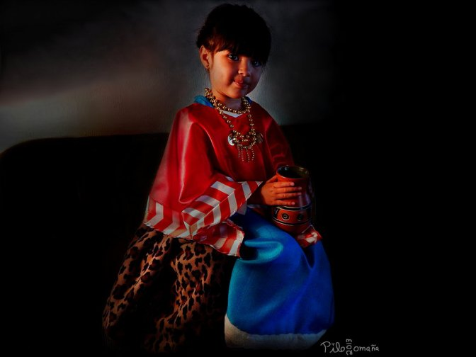 Girl dressed as Mixtec warrior ruler Ñuñuu