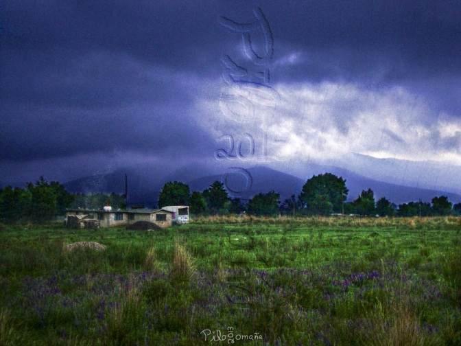 Summer rain at Jilotepec, Mexico. Copyright 2015 Miguel Omaña.