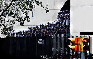 Mexican Senate taken by police. Copyright 2015 Miguel Omaña.