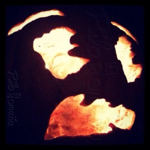 Carved pumpkin. Copyright 2014 Miguel Omaña.
