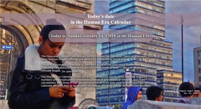 Human Era Calendar Date link.